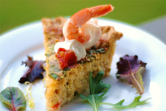 Chipotle Shrimp Quiche